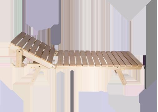 Лежак с подголовником