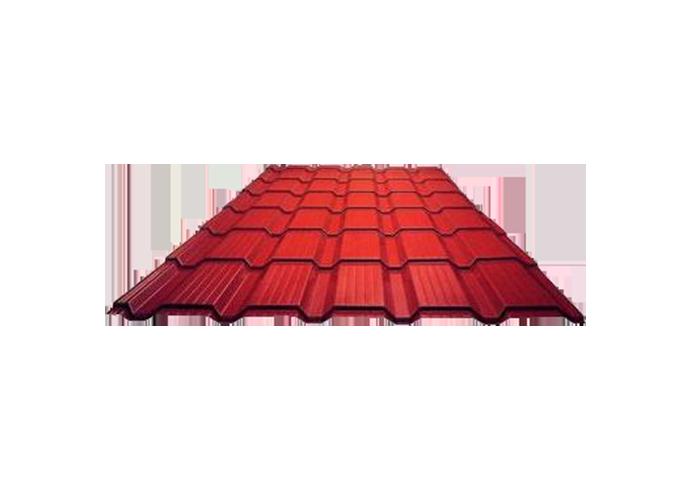 Металлочерепица Каскад полиэстер Ширина 1170 мм 1120 мм 0.4 красный