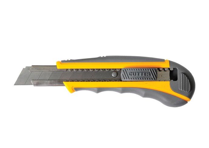 Нож Мастер Плюс 18 мм Обрезиненный корпус с напр