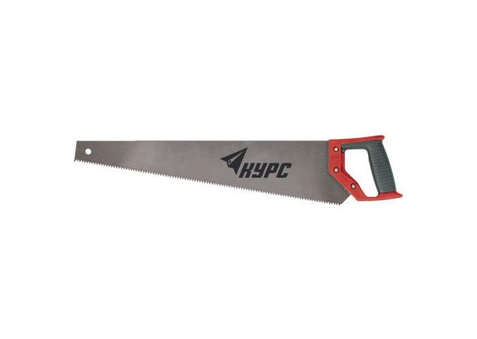 Ножовка по дереву, средний зуб, пластиковая ручка, 450 мм 40352