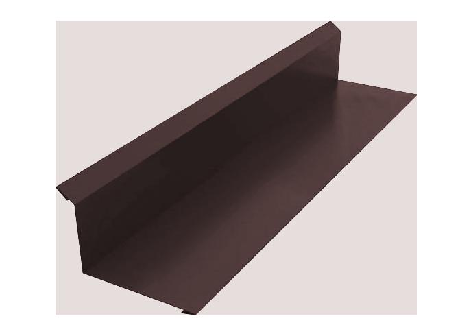 Пристенный профиль полиэстер 100x150 коричневый