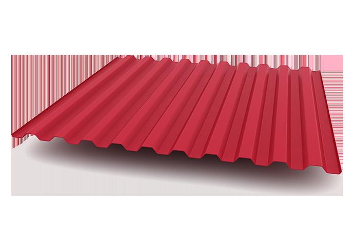 Профлист C21 1200x0.4 полиэстер красный