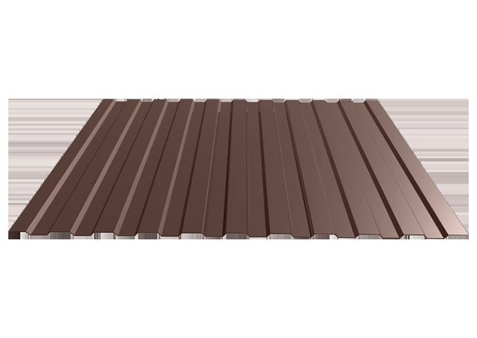 Профлист C8 1200x0.5 полиэстер коричневый