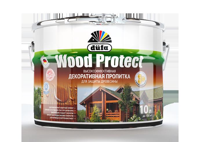 Пропитка düfa Wood Protect для защиты древесины с воском (орех)