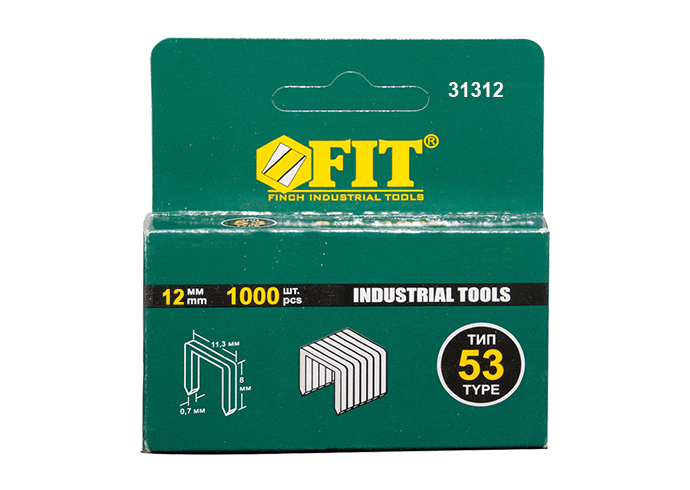 Скобы 12мм тип 53 код FIT-31312