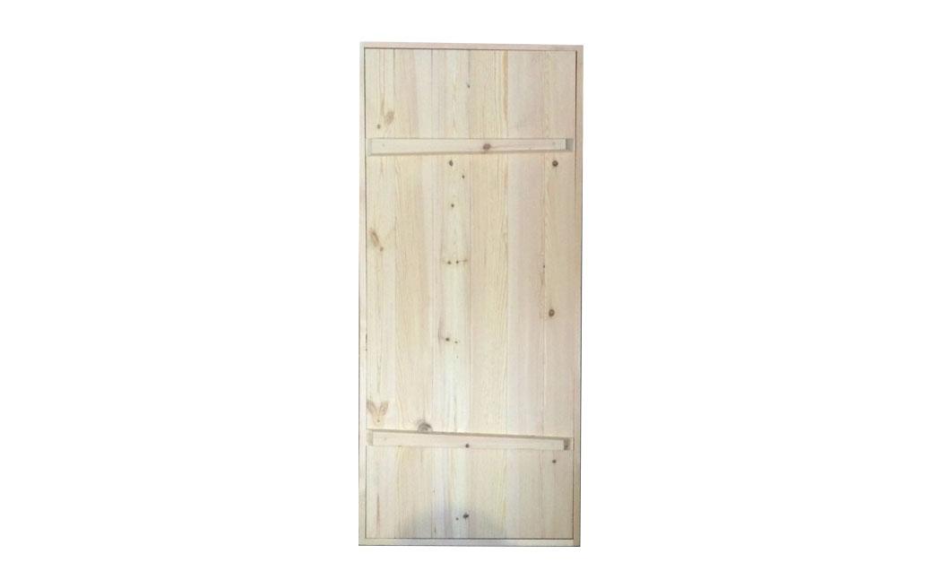 Дверь со шпонкой, хвоя (Клиновая)