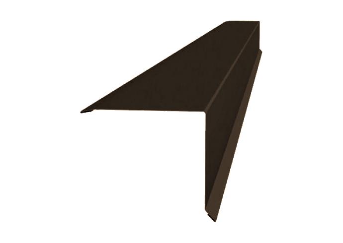 Ветровая планка полиэстер 90х90 мм коричневая