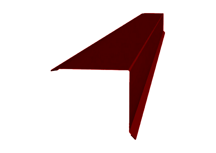 Ветровая планка полиэстер 90х90 мм красная
