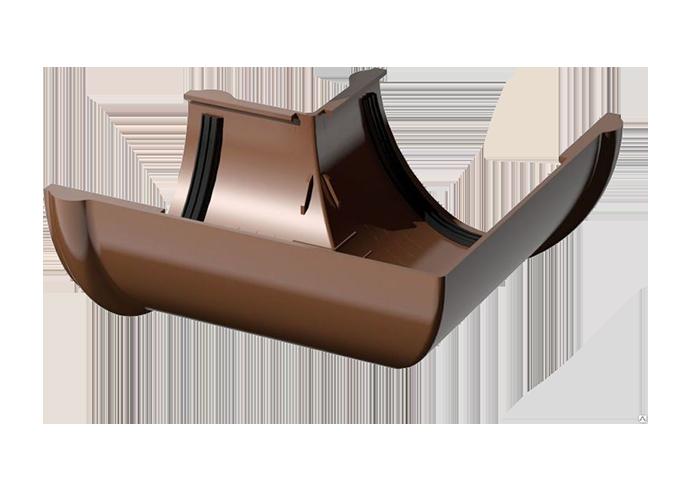 Угол желоба внутренний/внешний 90° ПВХ Verat коричневый