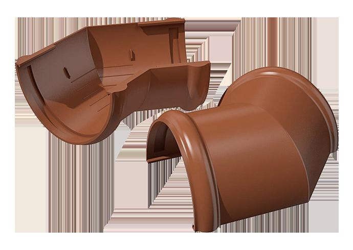Угол желоба внутренний/внешний 135° ПВХ Verat коричневый