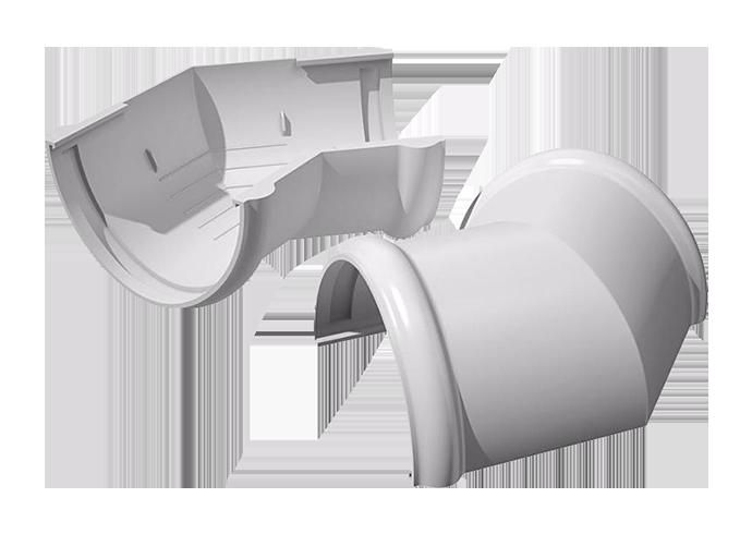 Угол желоба внутренний/внешний 135° ПВХ Verat белый