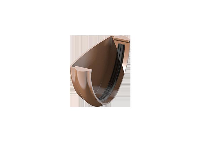 Заглушка жёлоба ПВХ Verat коричневый